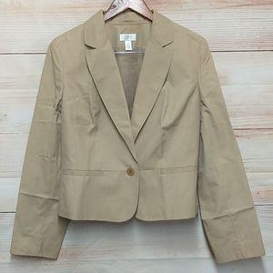 Loft khaki Single Button Blazer